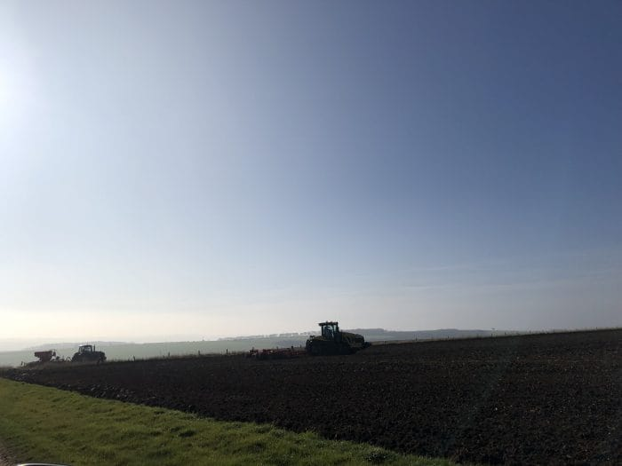 Planting barley at Hunmanby Grange, Feb 2019