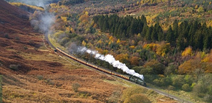 North Yorkshire Moors Railway through Newtondale on the North York Moors