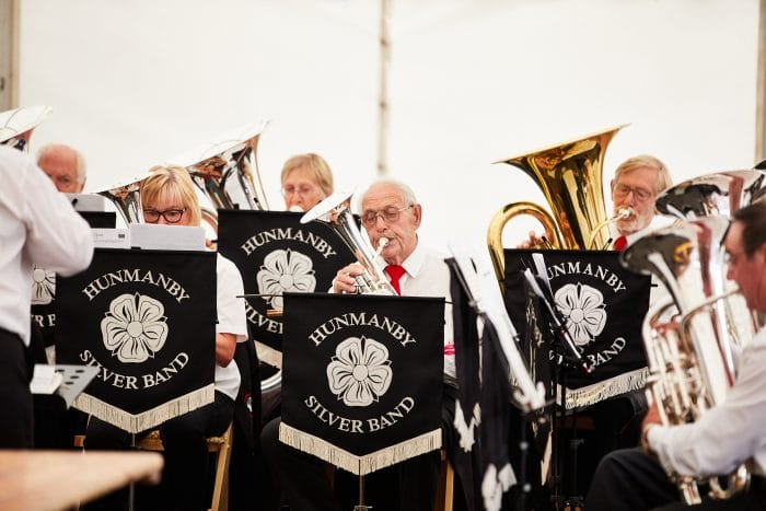 Hunmanby Silver Band, in their centenary year, play at the SOY Open Day