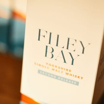 The Filey Bay Whisky Carton, from the Spirit of Yorkshire Distillery