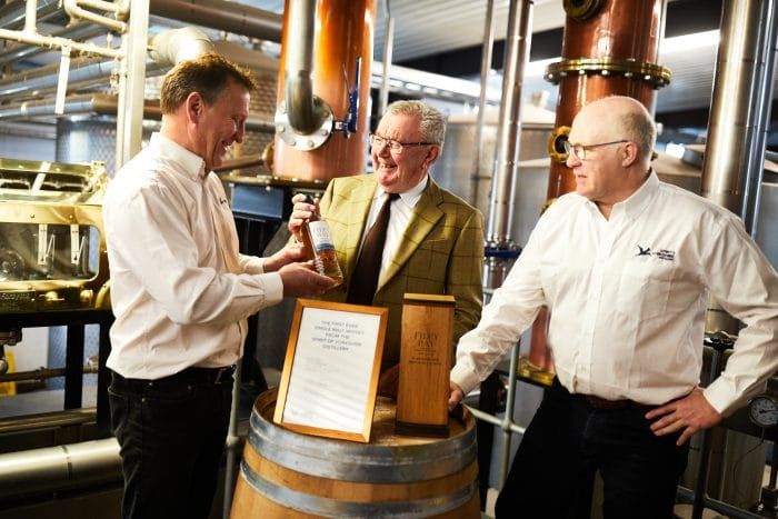 Presenting Filey Bay First Release Bottle No. 1 from the Spirit of Yorkshire Distillery