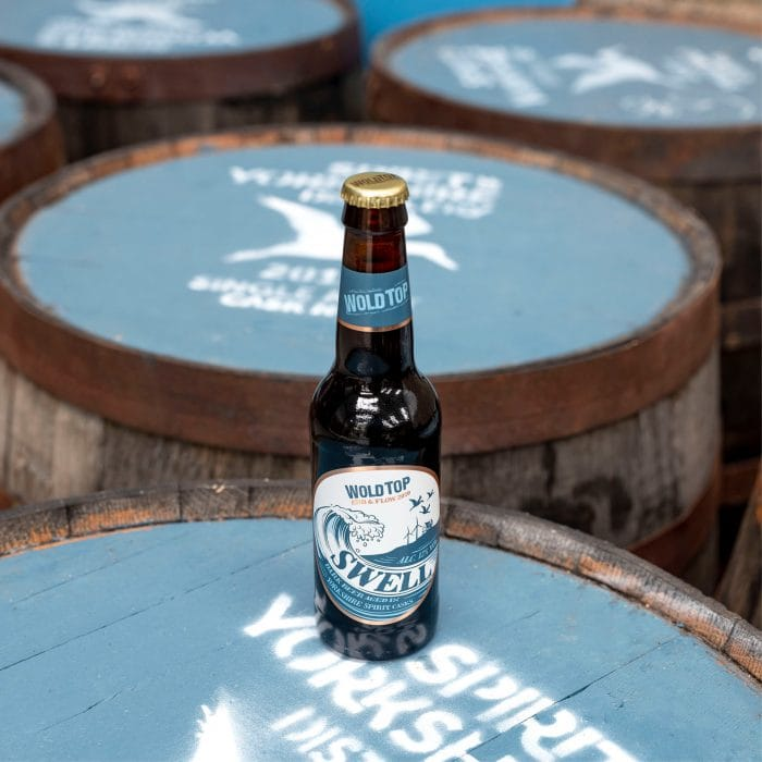 Swell, the first barrel-aged collaboration between the Spirit of Yorkshire distillery and the Wold Top Brewery