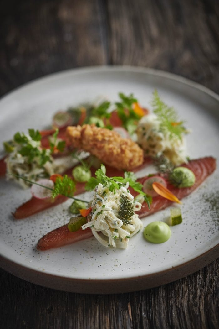 Filey Bay Whisky Salmon Pastrami, by James Mackenzie from the Pipe and Glass