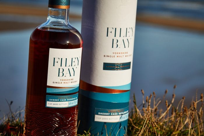 Filey Bay Sherry Cask Reserve #1 on the beach!